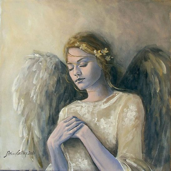 """Angel (14) by dorina costras Angel (14) from """"Angels series"""" Painting by Dorina Costras Acrylic on canvas 45/45 cm"""