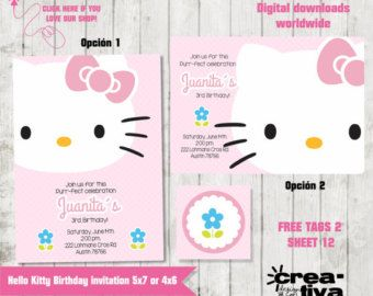 Personalized hello kitty birthday invitation by creativadesignco personalized hello kitty birthday invitation by creativadesignco filmwisefo Image collections