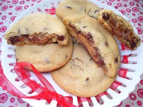 Leenee's Sweetest Delights: Candy Bar Stuffed Chocolate Chip Cookies*