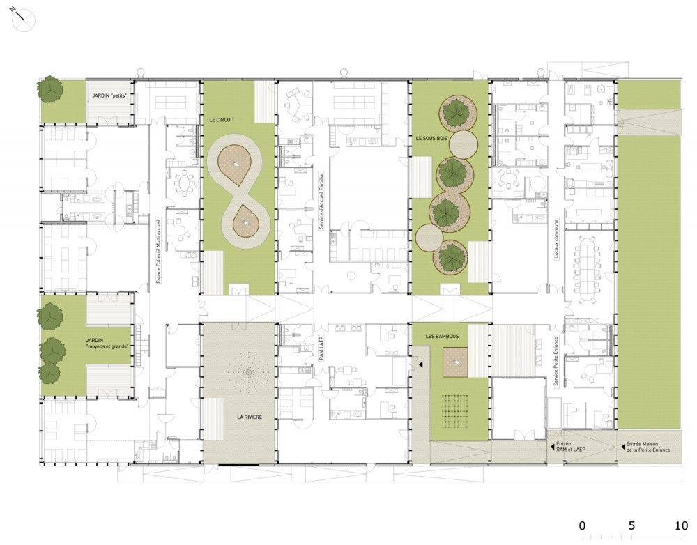 Epinay Nursery School Bp Architectures Nursery School School Floor Plan School Architecture