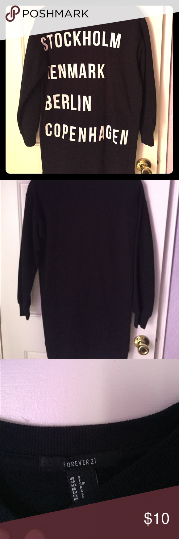 Cool long sweatshirt Long sleeve and lengthy Forever 21 sweatshirt, worn only once! Nice for chilly days Forever 21 Sweaters Crew & Scoop Necks