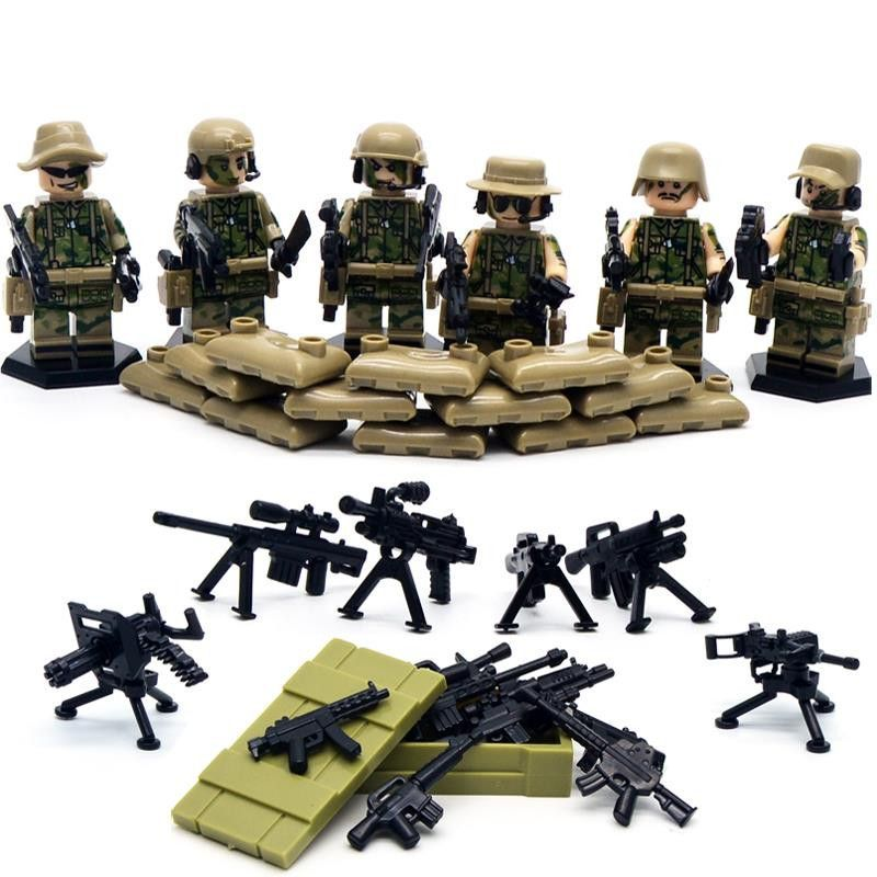 SWAT Team Police Military Minifigures Set Legos Compatible | lego ...