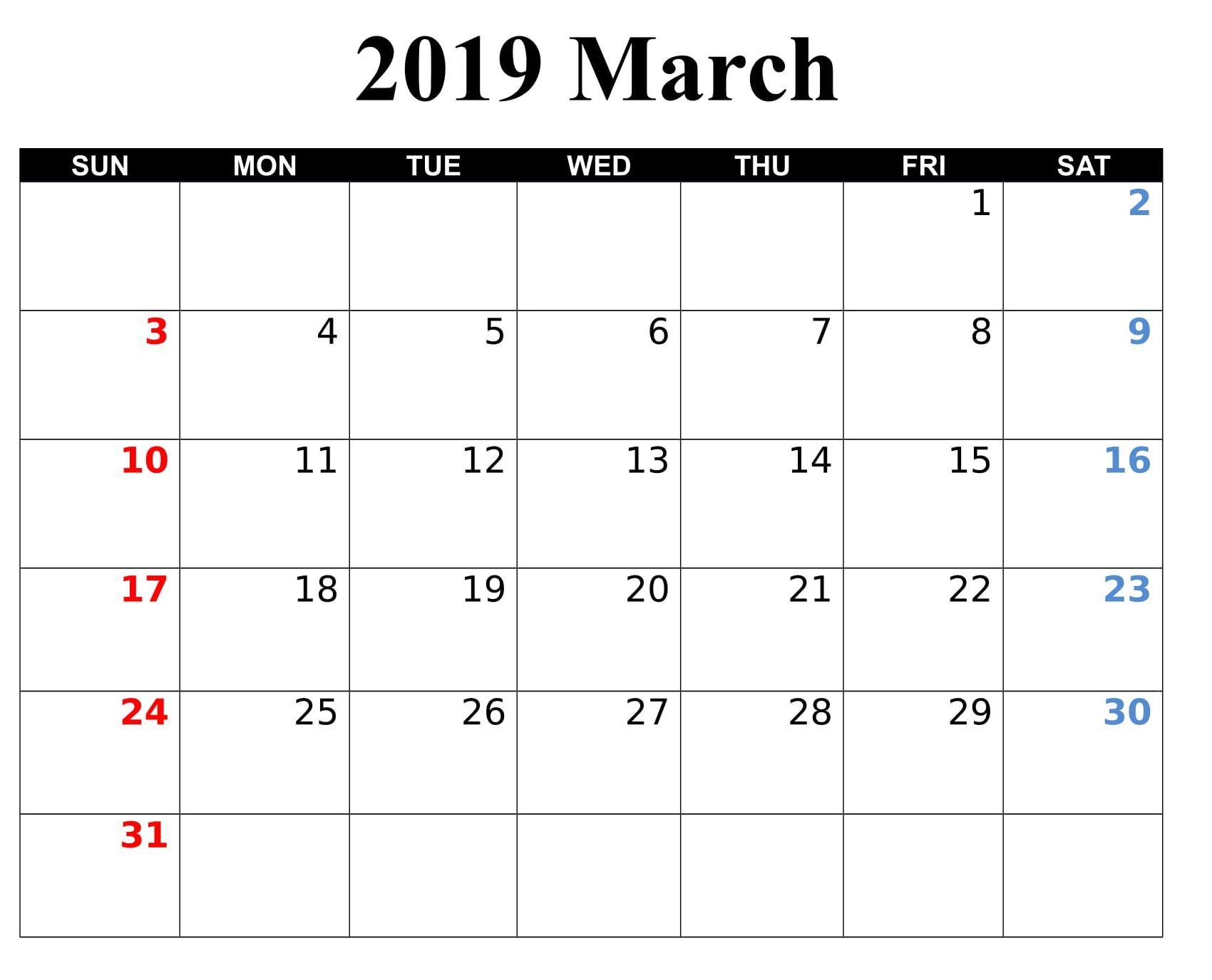 March 2019 Calendar Online With Holidays 2019 Calendar Online