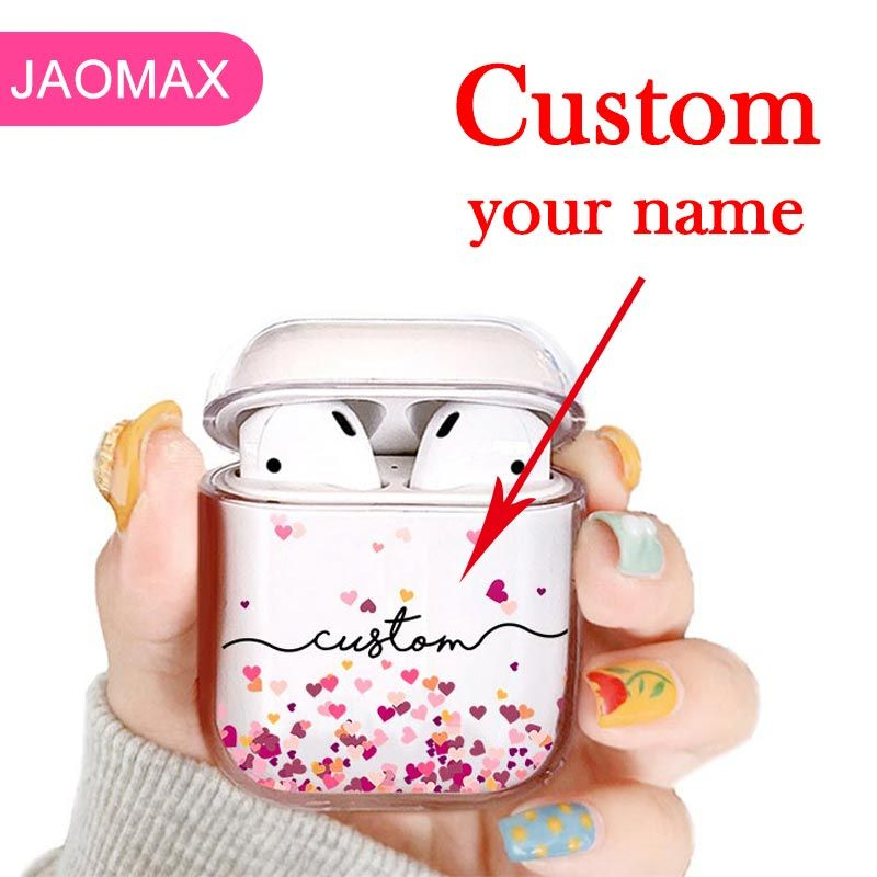 5 43us 14 Off Plastic Hard Pc Clear Custom Name Love Hearts Airpods Pro Case For Bluetooth Wireless Air Pod Diy Customized Protetive Covers Phone Case Cove Phone Case Cover Air Pods
