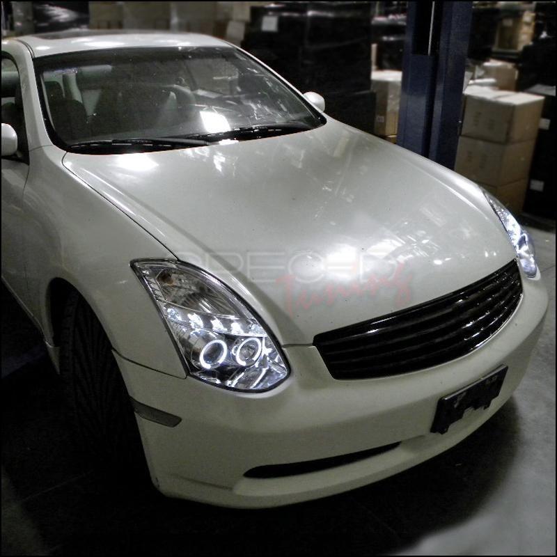 Spec D Projector Headlights Infiniti G35 Coupe Halo 03 07
