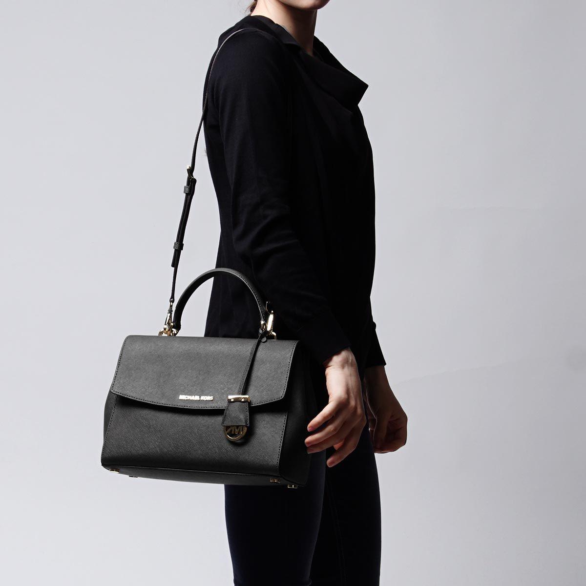 25eee16e20c2b3 Michael Kors MICHAEL MICHAEL KORS handbag (2WAY specifications) AVA LEATHER BLACK  black system 30t5gavs3l 001 Lady's