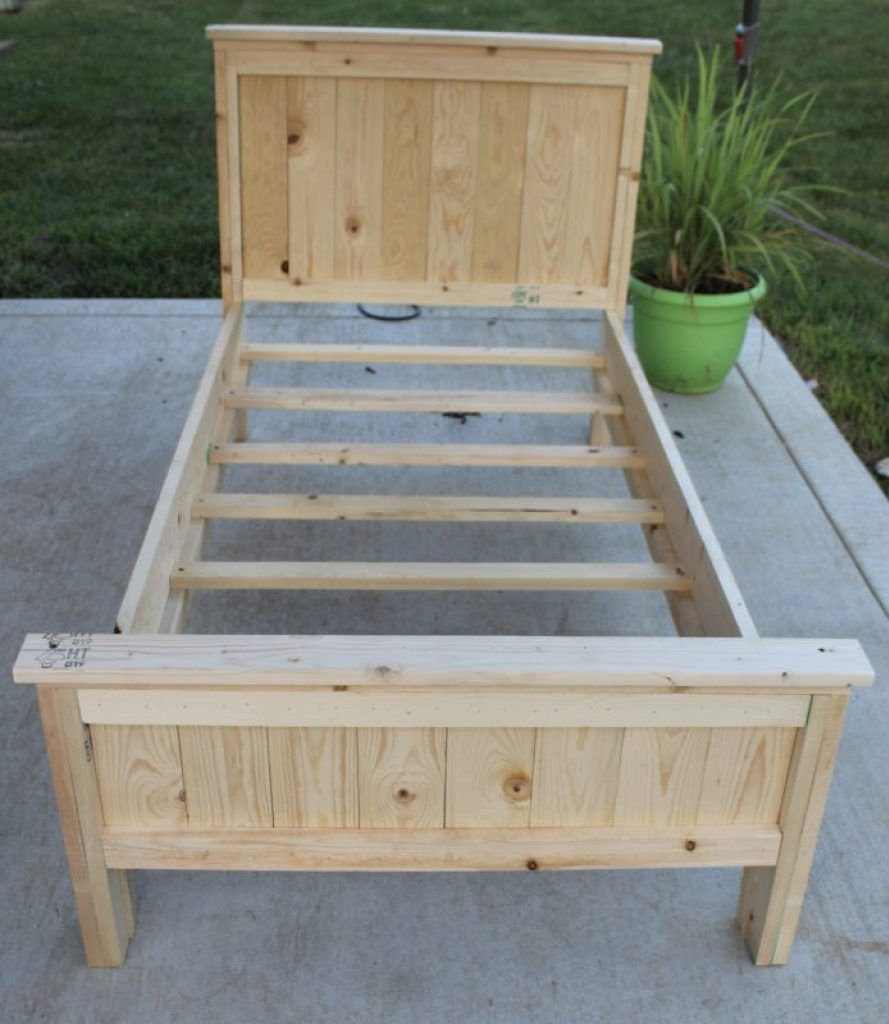 Toddler Bed Diy Farmhouse Bed For Less Than 60 Simple For Even