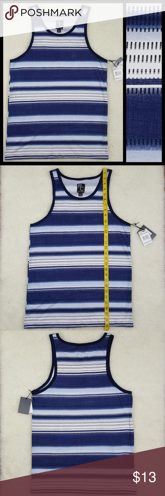 99cedfa5ce4f5 Ron Chereskin Abstract Stripe Mens Tank Top Sz L New with tags ...