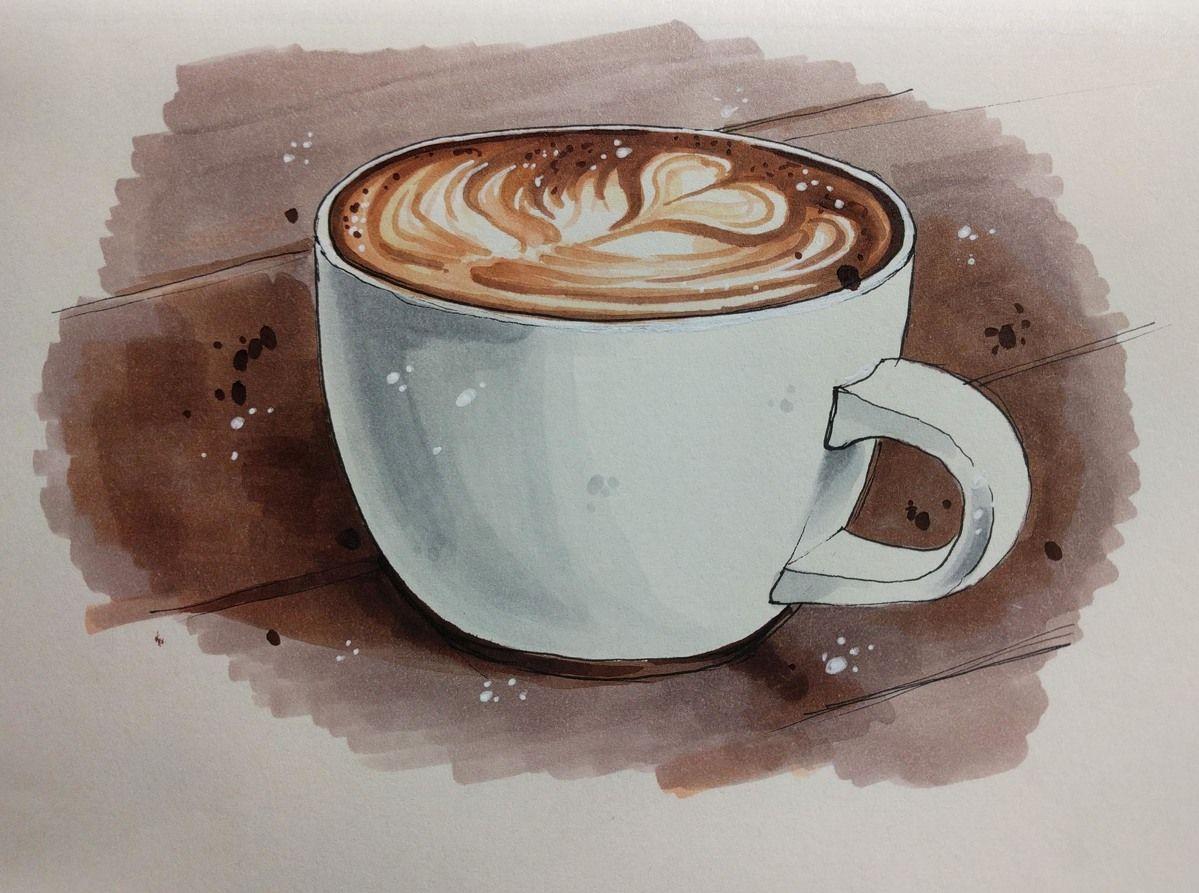 Рисунок с кофе