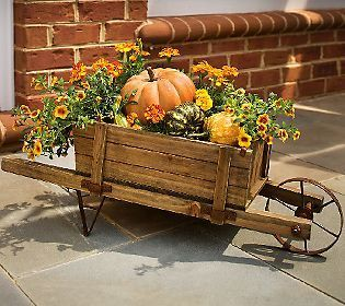 plow hearth large wheelbarrow planter fall decorating pinterest halloween macram et. Black Bedroom Furniture Sets. Home Design Ideas