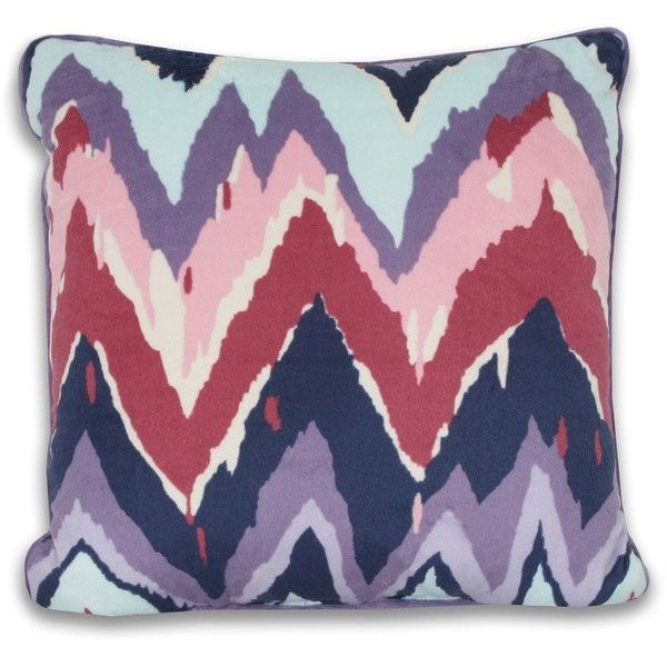 Paintica Chevron Decorative Pillow (30 CAD) ❤ liked on Polyvore featuring home, home decor, throw pillows, pillows, bohemian home decor, chevron throw pillows, chevron home decor, purple accent pillows and purple throw pillows