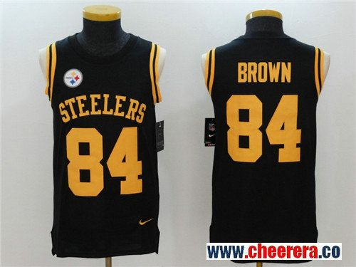 03abe5dc1ca ... nike black game jersey 1ca69 fe573 where can i buy mens pittsburgh  steelers 84 antonio brown black color rush 2017 vest stitched ...