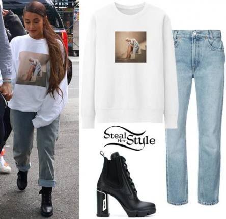 40 Ideas For Sweatshirt Dress Outfit Ariana Grande