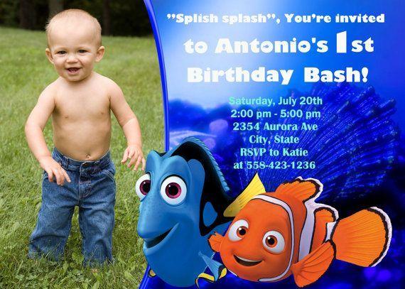 nemo birthday invitations Finding Nemo Birthday Party Invitation