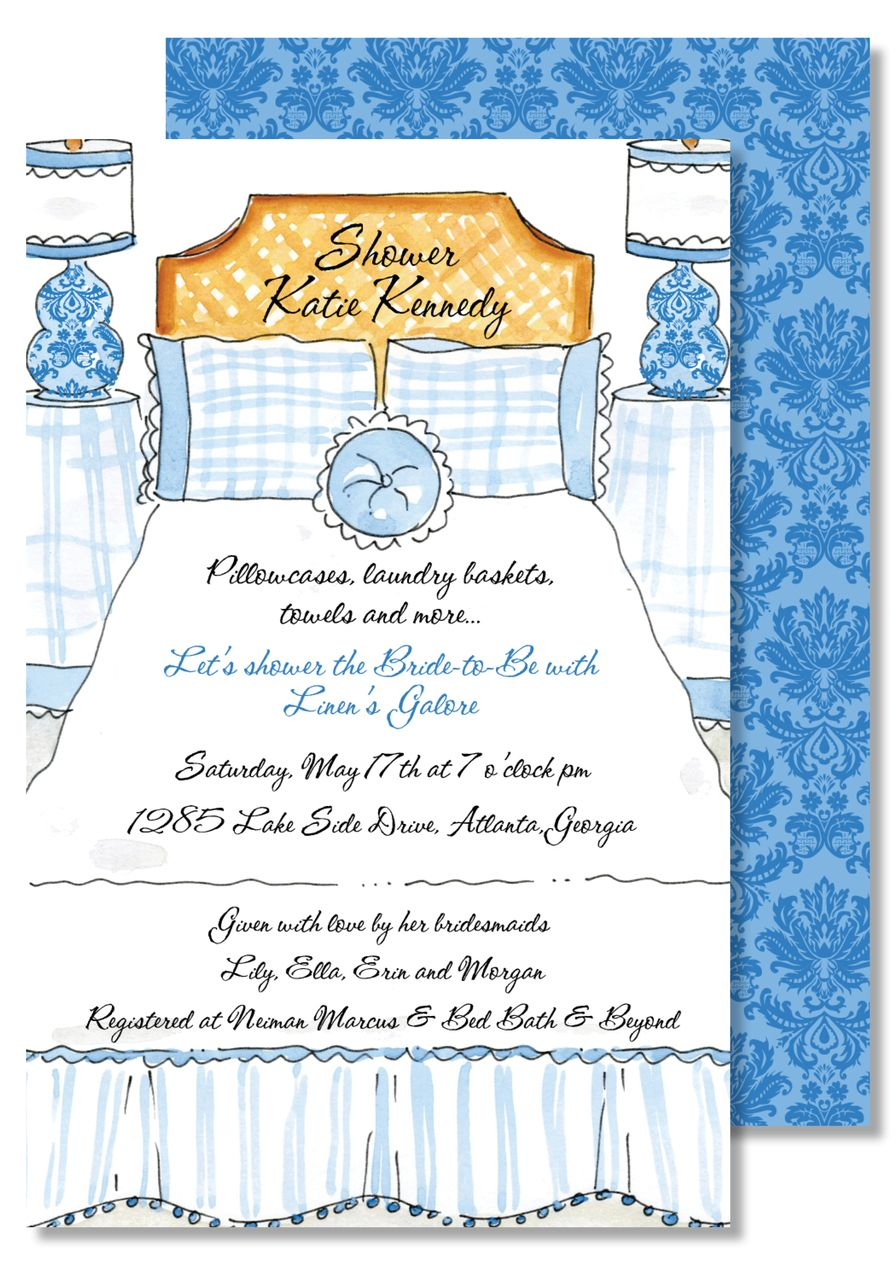 Bed And Bath Or Linen Shower Invitations Creations By Leslie