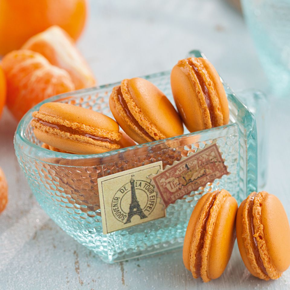 Mandarinen-Macarons