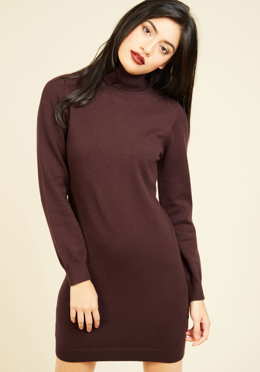 Lush with beauty dress in garden warm turtleneck dress and sweaters