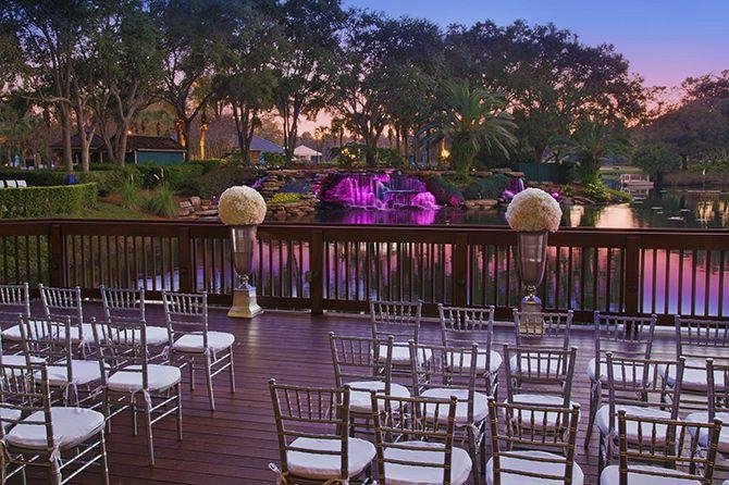 Sawgr Marriott Ponte Vedra Beach Florida Outdoor Wedding At Night