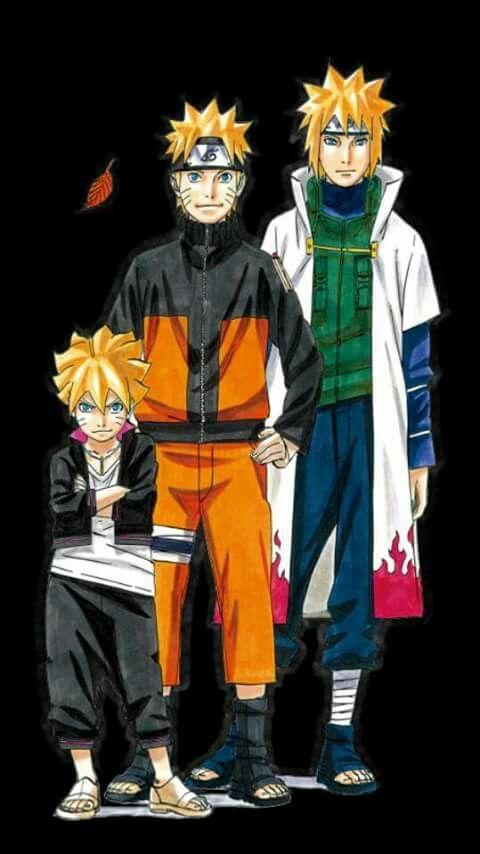 Minato, Naruto, and Boruto!