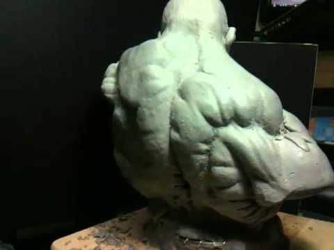 Sculpting The Incredible Hulk Bust - part 5 - YouTube