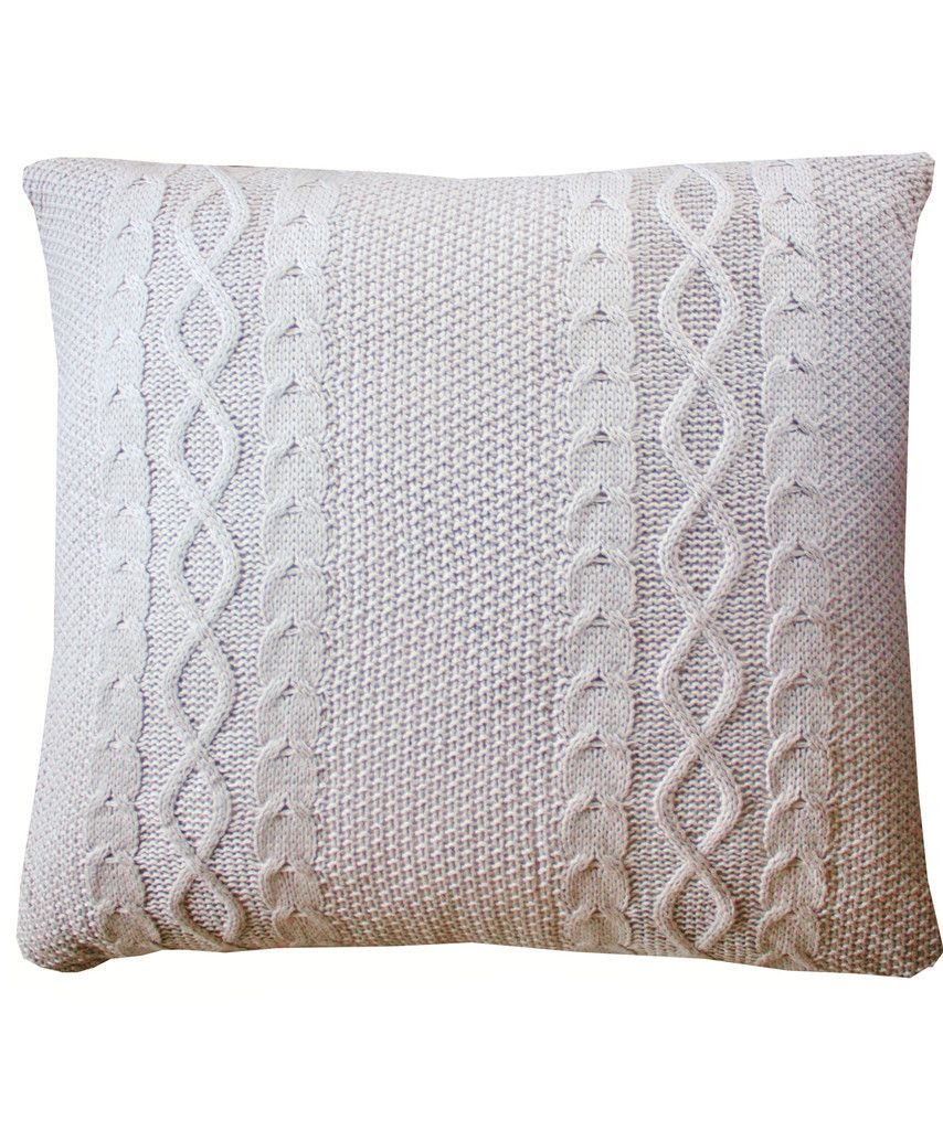 Large Cable Knit Throw Pillow, Stone $48 | Extras | Pinterest ...