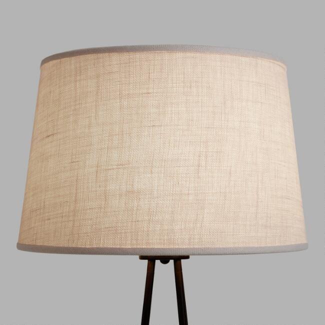 World Market Lamp Shades Marshmallow White Burlap Floor Lamp Shade  World Market #lampshades