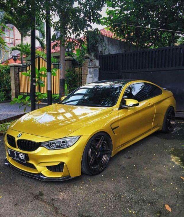 BMW F82 M4 yellow!! Classy!! #luxurycars #luxury #cars # ...