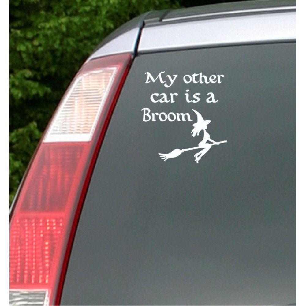 My Other Car Is A Broom Carfitti Car Sticker Car Stickers Broom Car [ 1000 x 1000 Pixel ]