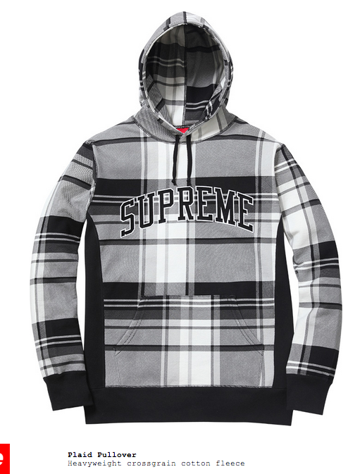Supreme Flannel Hoodie Fall/Winter 2014 | Clothes | Pinterest ...