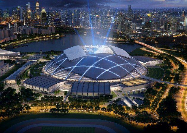 Singapore To Boast Of World S Biggest Dome World Architecture Festival Stadium Design Stadium Architecture