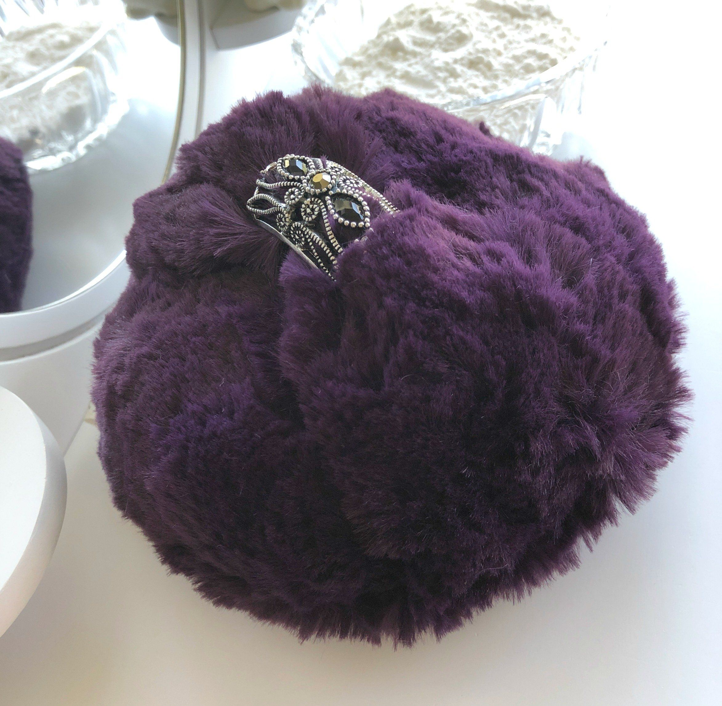 Purple Powder Puff large 5 inch pouf to apply body