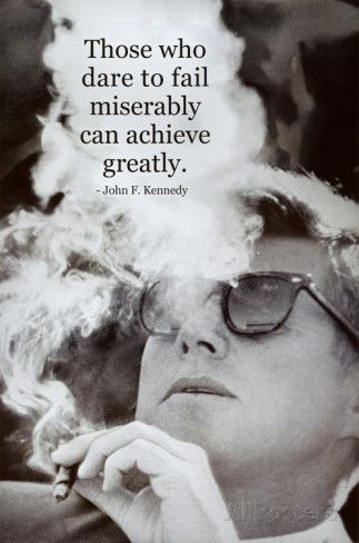 John F Kennedy Achieve Motivational Quote Archival Photo Poster - Posters på AllPosters.se