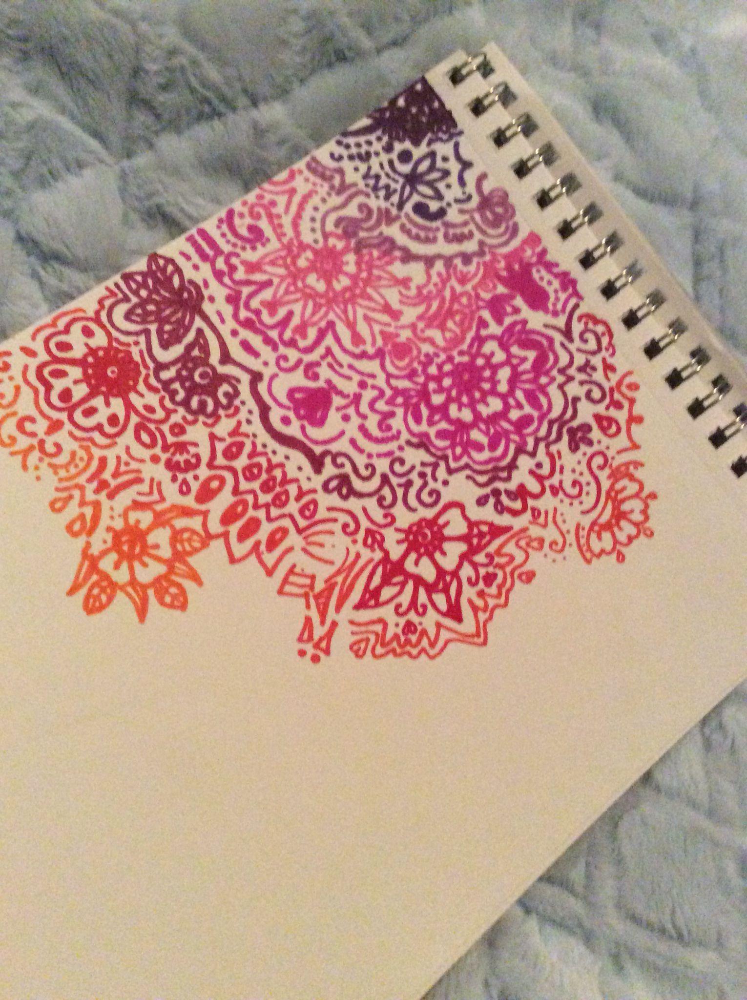 Sharpie henna design on paper cool doodles pinterest for Cool designs on paper