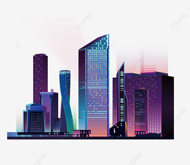 City Silhouette High Rise Buildings Color City Silhouette Urban Building High Rise Building Png And Vector With Transparent Background For Free Download High Rise Building City Silhouette Building Silhouette
