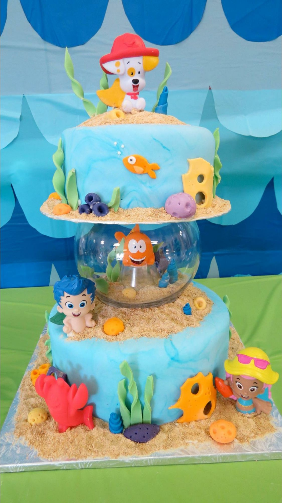 Outstanding Bubble Guppies First Birthday Party First Birthday Kids Funny Birthday Cards Online Alyptdamsfinfo