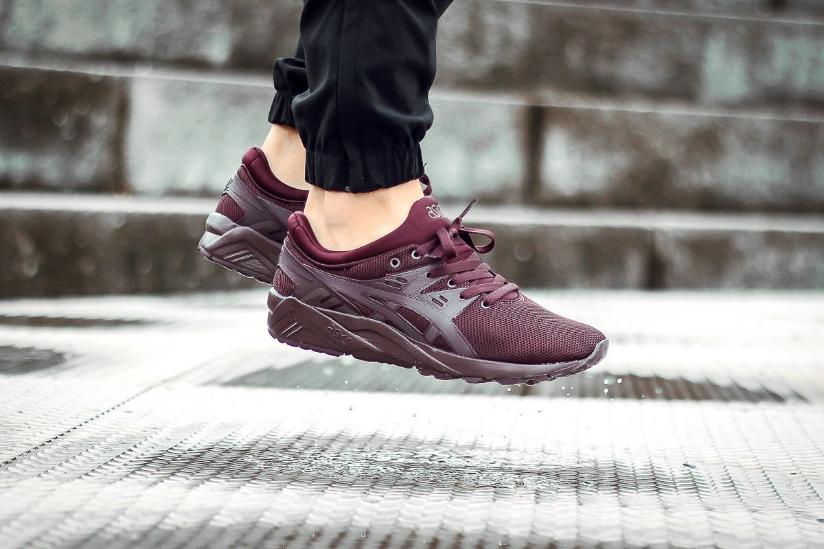 asics gel kayano trainer evo bordeaux