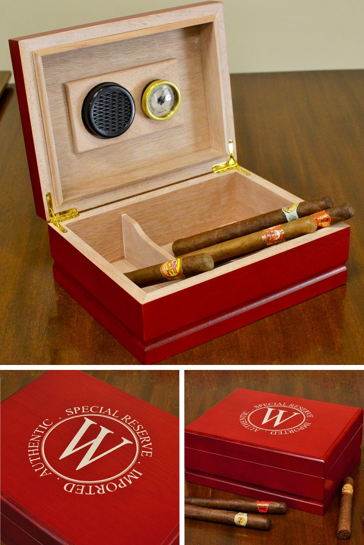 Laser Engraved Rosewood Finish Humidor Cigars Pinterest Cigar