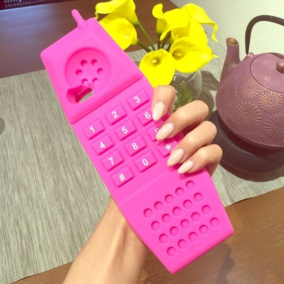 finest selection c81a2 3abbe Moschino iPhone 6 Silicone Telephone Case Pink silicone telephone ...