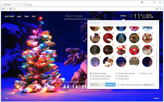 Christmas Countdown HD Wallpaper New Tab Christmas