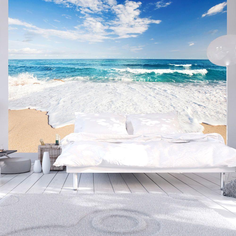 vlies tapete top fototapete wandbilder xxl 400x280 cm meer strand wellen himmel c b 0033. Black Bedroom Furniture Sets. Home Design Ideas