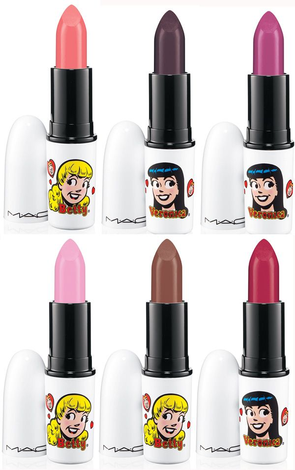 d43d88c54fb MAC Archies Girls Spring 2013 Betty Veronica Lipstick photo - The lipsticks  that really take my fancy are: betty bright, oh oh oh, daddy's little girl,  ...