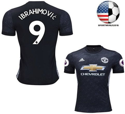 new product 75306 feeec New #9 IBRAHIMOVIC 2017/18 manchester united Jersey Men's ...