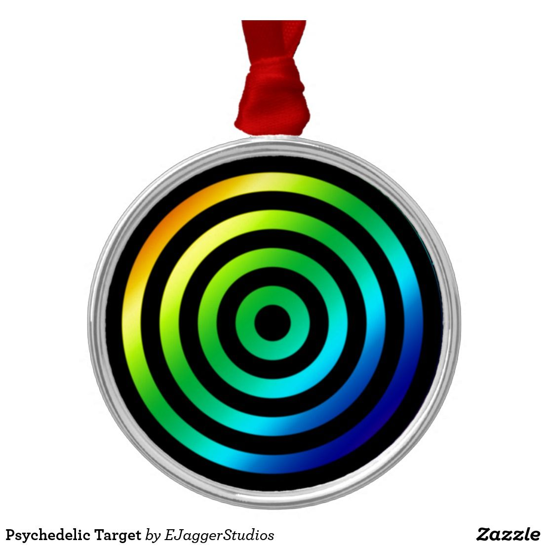 Psychedelic Target | Christmas tree decorations, Hanging ...