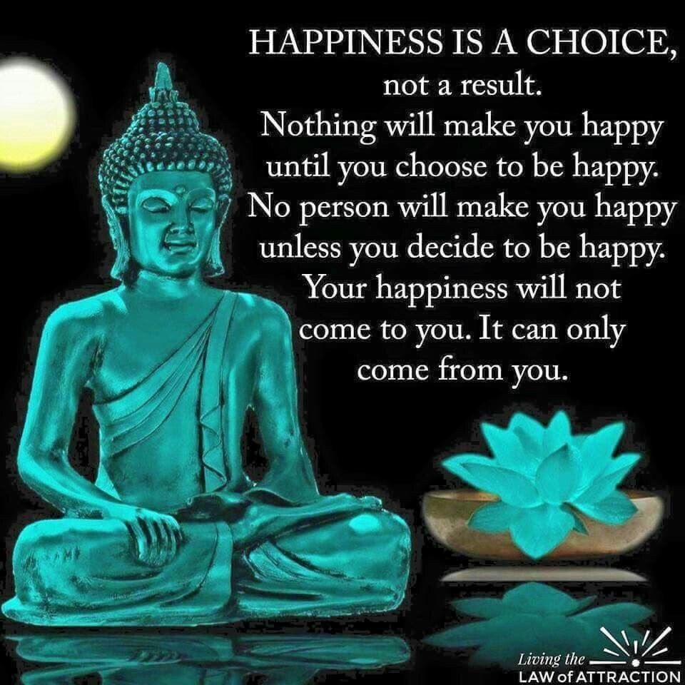 Happiness Is A Choice Not A Result Buddha Quote Buddhist