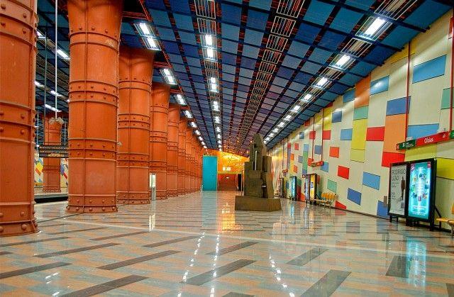 LISZABON--estação de metro das Olaias, Lisboa, Portugal. - Best subway stations in Europe - Olaias metro - European Best Destinations - copyright Max Bashirov