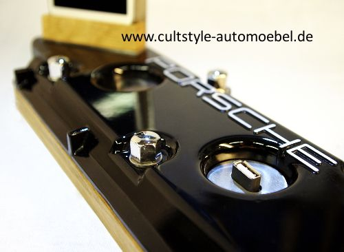 cultstyle auto m bel porsche ventildeckel smartphone. Black Bedroom Furniture Sets. Home Design Ideas