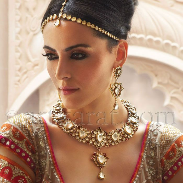 Indian Wedding Jewelry Bridal Gorgeous One Of A Kind Sets Including Necklace And Tikka By Art Karat