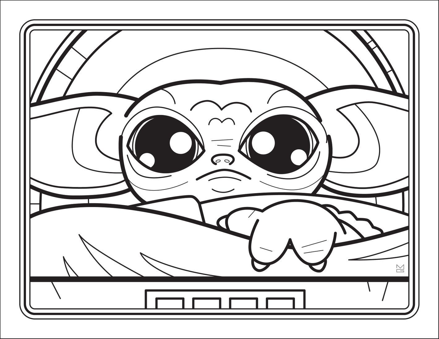 16++ Cute baby yoda coloring pages information