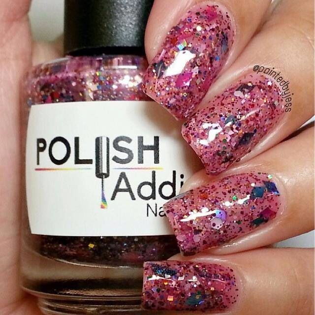 Diamonds R' Forever swatched by @paintedbyjess now available at www.polishaddictnailcolor.com
