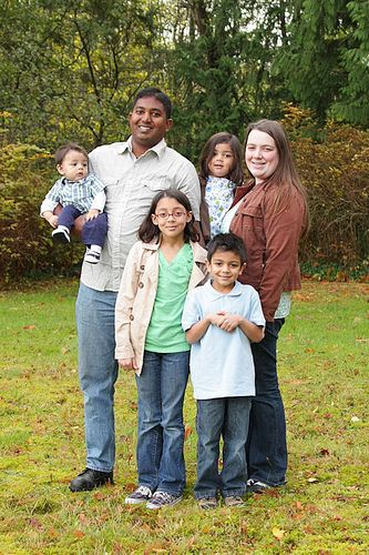 Half Indian White Family  Biracial Babies, Couple With -5355